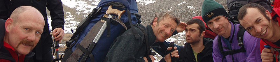 Contact Phill George Mountain Qualifications & Mountaineering Services